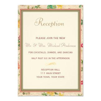 Tarjeta floral de la recepción del país invitación 12,7 x 17,8 cm