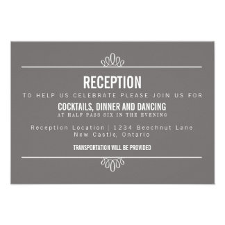 Tarjeta floral de la recepción nupcial de la escri invitación
