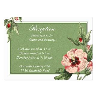 Tarjeta floral de la recepción nupcial del hibisco tarjetas de visita grandes