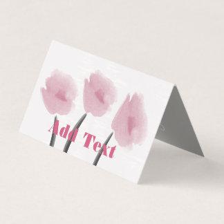 Tarjeta floral de las flores del Peony rosado