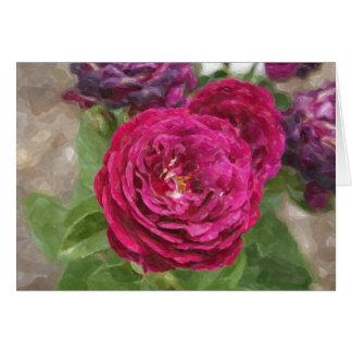 Tarjeta floral de las impresiones magentas color