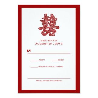 Tarjeta floral de RSVP de la felicidad que se casa