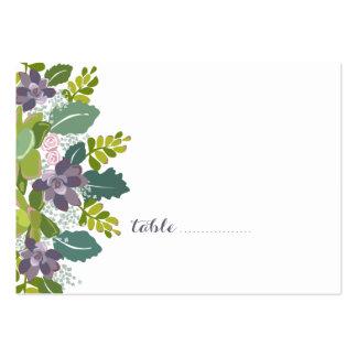 Tarjeta floral del asiento del boda del ramo II Tarjetas De Visita Grandes