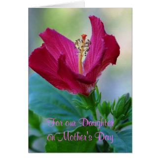 Tarjeta floral del día de madre de la hija