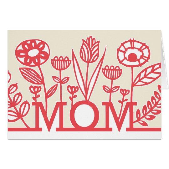 Tarjeta floral del día de madre de la primavera
