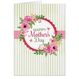Tarjeta floral del día de madre (foto opcional)