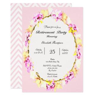 tarjeta floral del fiesta de retiro de la flor