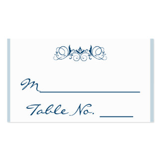 Tarjeta floral del lugar del boda del acento de la tarjetas de visita