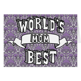 Tarjeta floral del mejor de la mamá del mundo