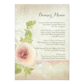 Tarjeta Floral elegante de la flor del Peony del vintage