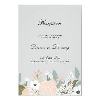 Tarjeta floral grande de la recepción invitación 8,9 x 12,7 cm
