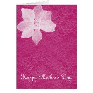 Tarjeta floral invertida del día de madres del