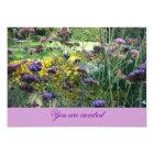 Tarjeta Floral Invitation Card (lavender aquel lava)