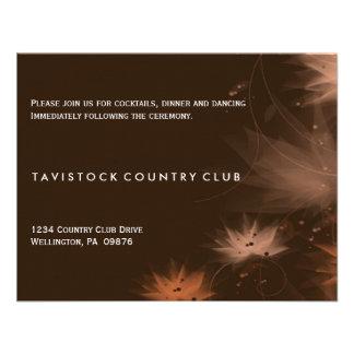 Tarjeta floral minimalista de la recepción nupcial invitacion personalizada