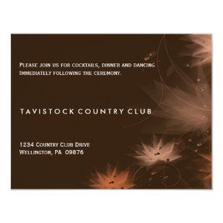 Tarjeta floral minimalista de la recepción nupcial invitación 10,8 x 13,9 cm
