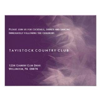 Tarjeta floral minimalista moderna de la recepción invitacion personalizada