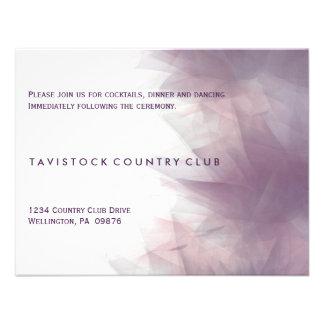 Tarjeta floral minimalista moderna de la recepción comunicados personalizados