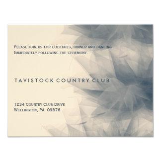 Tarjeta floral minimalista moderna de la recepción invitación 10,8 x 13,9 cm