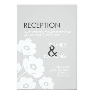Tarjeta floral moderna de la recepción invitación 8,9 x 12,7 cm