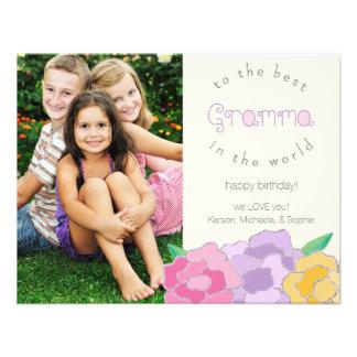 Tarjeta floral preciosa de la foto de Gramma del f Comunicados