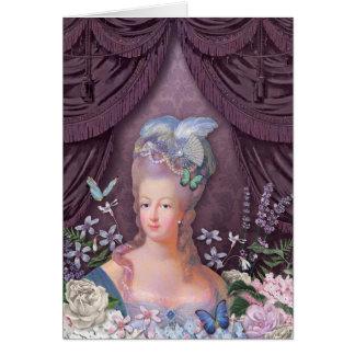 Tarjeta Floral púrpura de Marie Antonieta