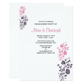 Tarjeta floral romántica del compromiso