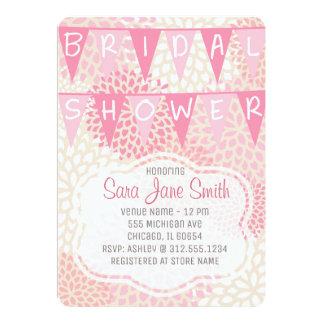 Tarjeta Floral rosado nupcial de la ducha el | de la