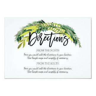 Tarjeta floral rústica de la dirección del boda de
