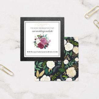 Tarjeta floral rústica del Web site del boda de la