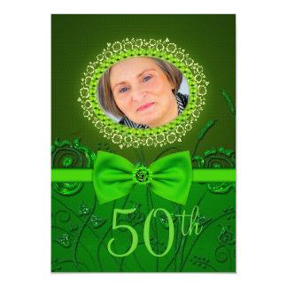 tarjeta floral verde elegante de la invitación del