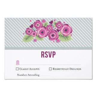 Tarjeta floral violeta de RSVP Invitación 8,9 X 12,7 Cm