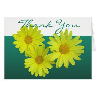 Tarjeta Florales elegantes de la foto colorida amarilla de
