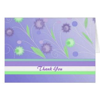 Tarjeta Florales púrpuras le agradecen