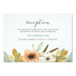 Tarjeta floreciente de la recepción de la acuarela invitación 8,9 x 12,7 cm