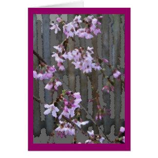 Tarjeta floreciente de las flores de cerezo