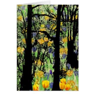 Tarjeta floreciente del bosque