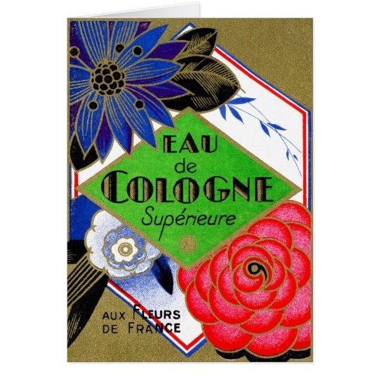 Tarjeta Flores 1925 de Superieure del perfume de Francia