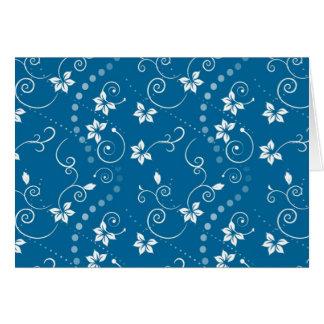Tarjeta Flores azules de Swirly