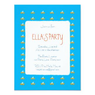 Tarjeta Flores azules y anaranjadas de la acuarela