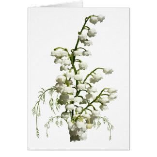 Tarjeta Flores blancas del lirio de los valles