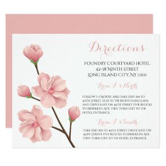 Tarjeta Flores de cerezo rosadas florales de las