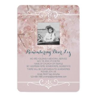 Tarjeta Flores de cerezo rosadas polvorientas de la
