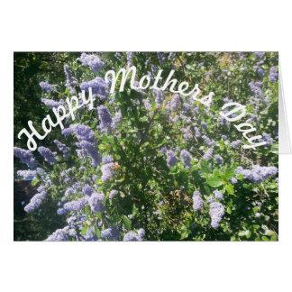 Tarjeta Flores de la lila del día de madres