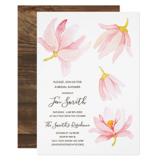 Tarjeta Flores de la primavera de la acuarela. Ducha
