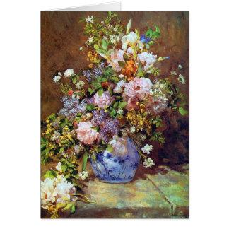 Tarjeta Flores de la primavera por Renoir