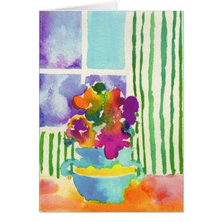 Tarjeta Flores de la ventana de Jessie Abrams, edad 11