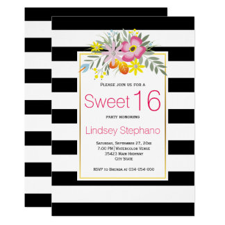 Tarjeta Flores rosadas, cumpleaños del dulce dieciséis de