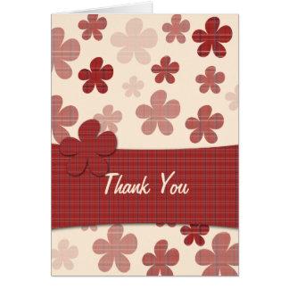Tarjeta Flores y modelo rojos de la materia textil