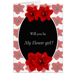 Tarjeta Florista rojo del Amaryllis