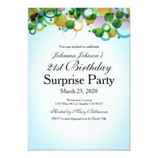 Tarjeta flotante de la sorpresa del cumpleaños de invitación 12,7 x 17,8 cm